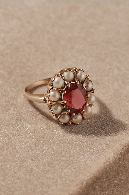Vintage Pearl Halo Cocktail Ring
