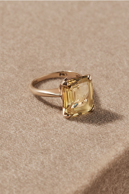 Vintage Emerald Cut Cocktail Ring