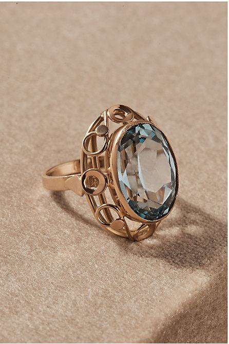 Vintage Corundum Cocktail Ring