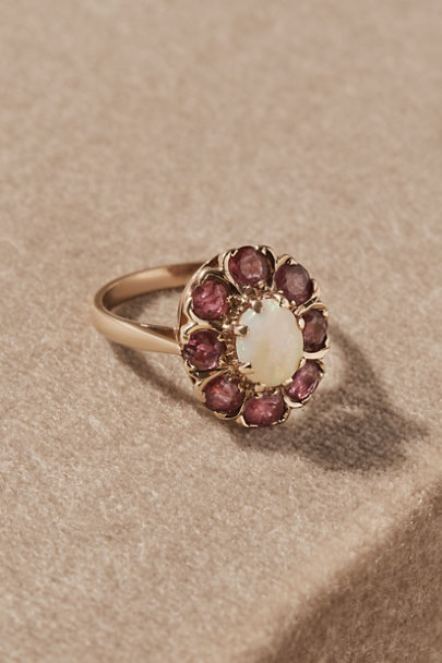 View larger image of Vintage Opal & Ruby Cocktail Ring