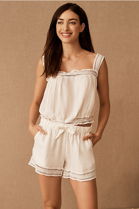 Lazy Poet Christie Lace Pajama Set