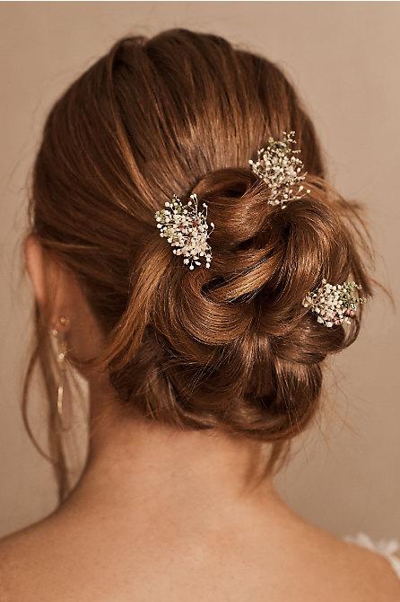 Rosa Preserved Flower Hair Pin Set