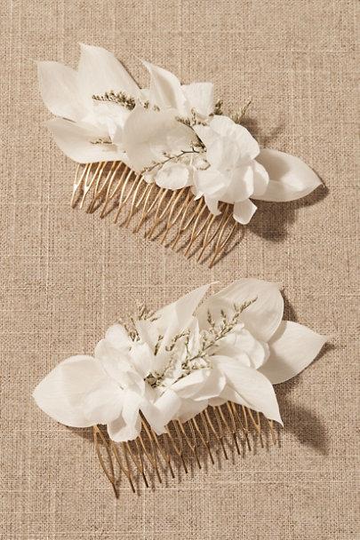 View larger image of Juli Preserved Flower Veil & Comb Set