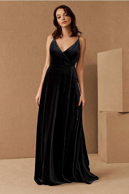 Jenny Yoo Andi Velvet Wrap Dress