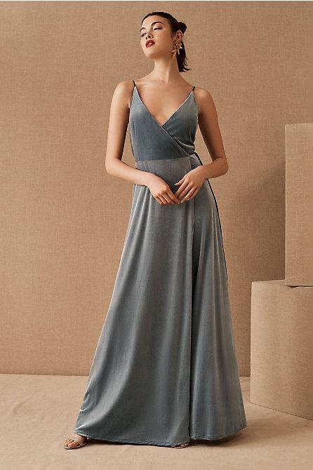 Jenny Yoo Andi Velvet Wrap Dress