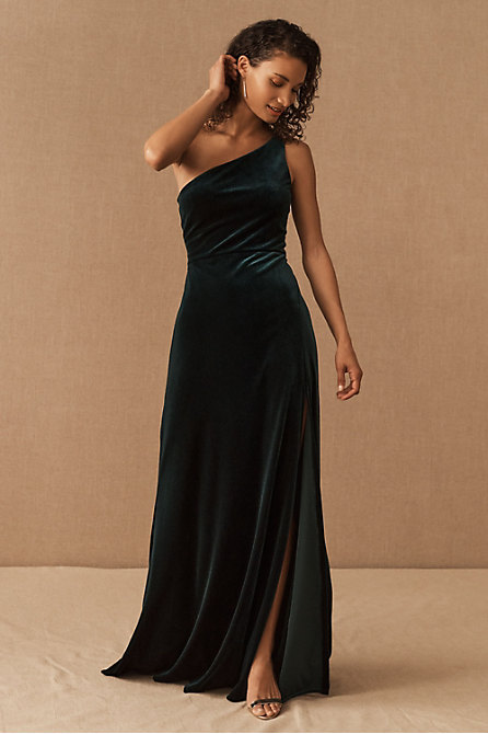 Jenny Yoo Cybill Velvet Maxi Dress