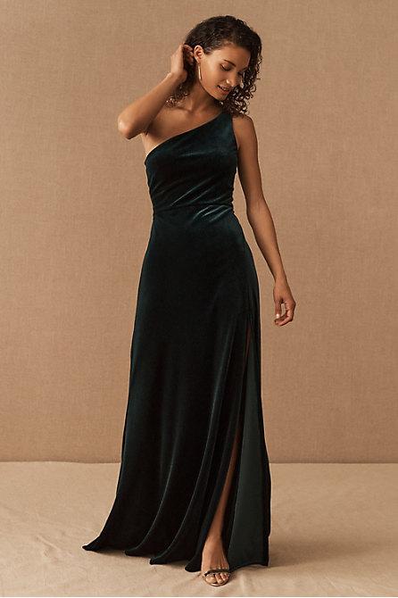 Jenny Yoo Cybill Velvet Maxi Dress