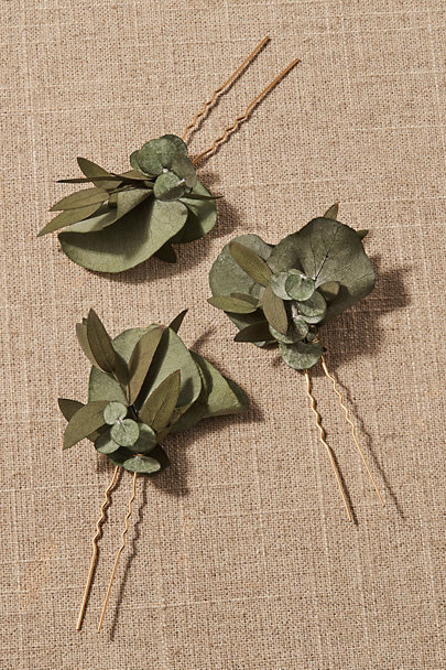 View larger image of Salma Preserved Eucalyptus Hair Pin Set