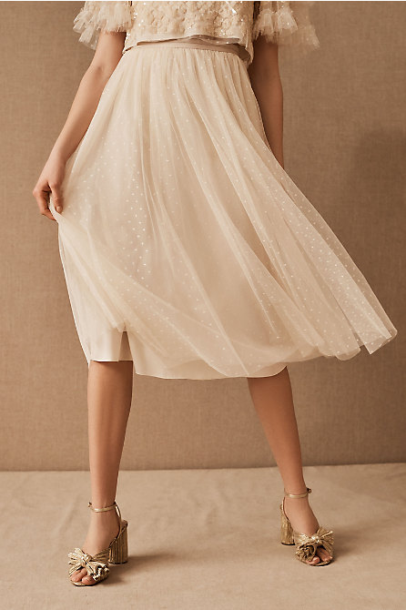 Needle & Thread Kisses Tulle Skirt