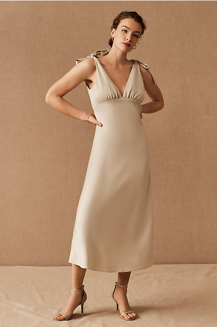 BHLDN Hudson Satin Dress