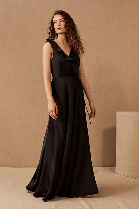 Tansy Satin Charmeuse Maxi Dress