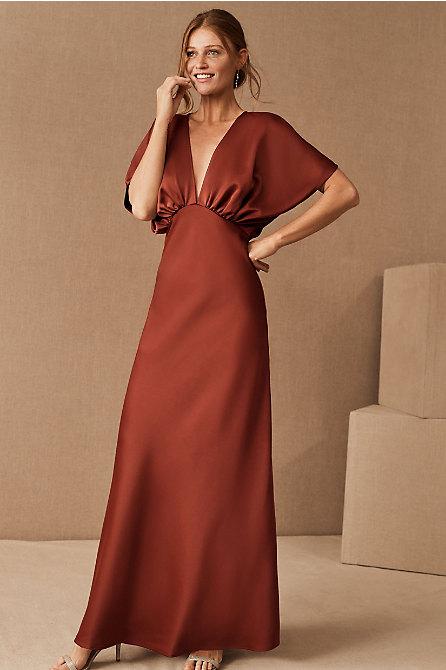 Leila Satin Charmeuse Maxi Dress