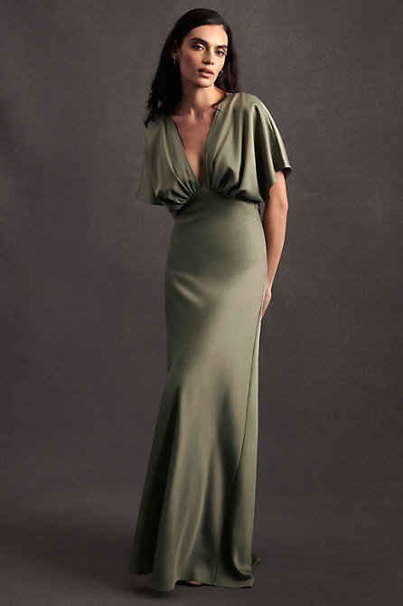 Leila Satin Charmeuse Maxi Dress