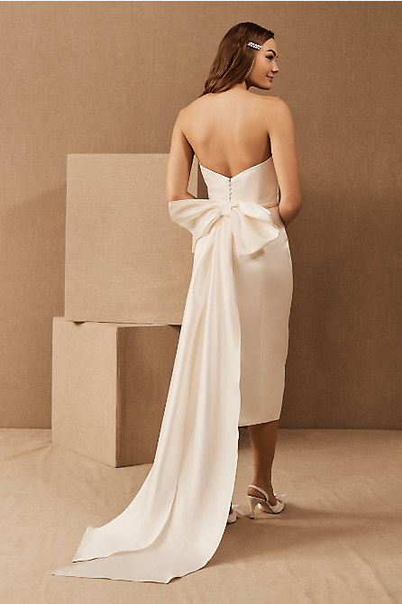 Amsale Willow Bow Dress