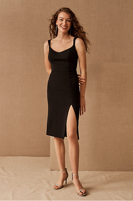 Ana Crepe Midi Dress