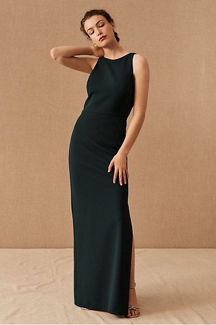 London Crepe Tie-Back Dress