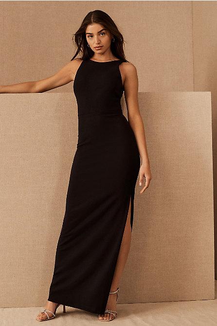 London Crepe Tie-Back Dress