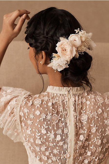 Sirena Preserved Flower Hair Comb