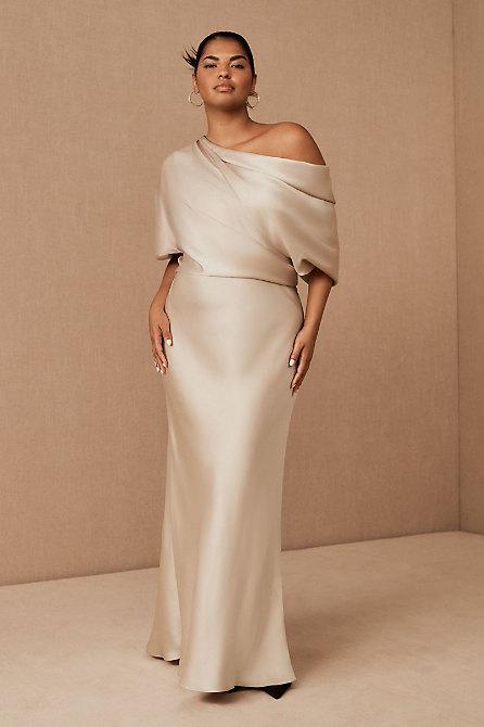 Pryce Off-the-Shoulder Column Dress
