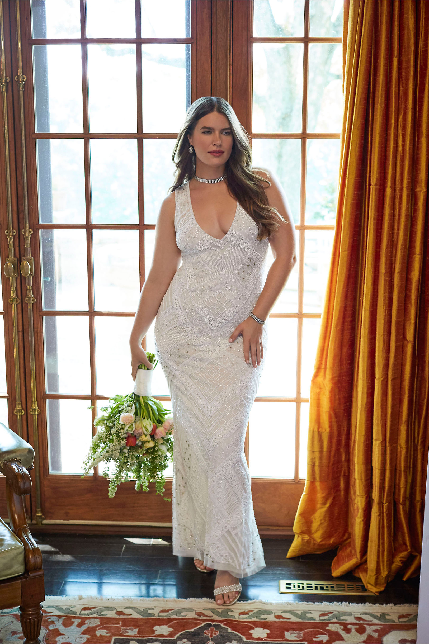 fall bridal gown