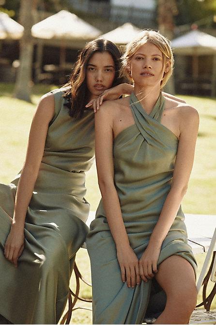 Ruby Satin Charmeuse Dress
