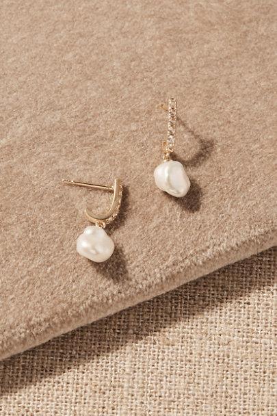 View larger image of Bex White Topaz & 14k Gold Earrings
