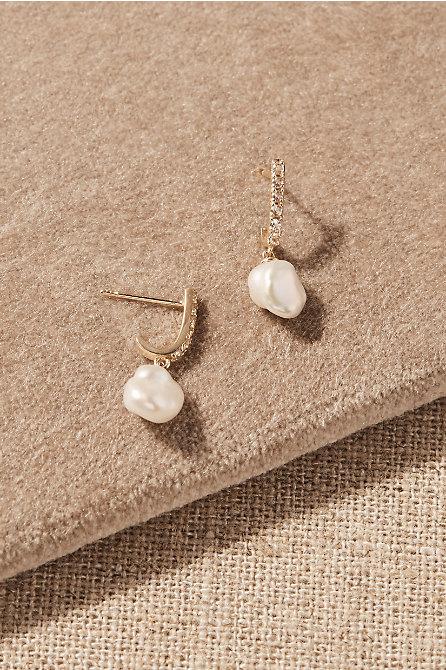 Bex White Topaz & 14k Gold Earrings