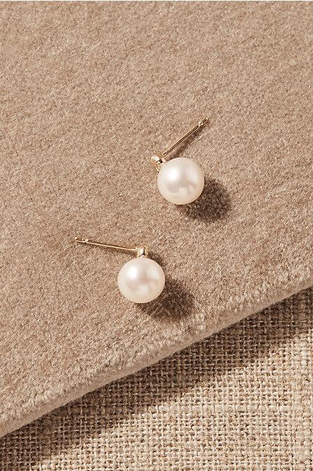 Tieghan White Topaz & 14k Gold Earrings