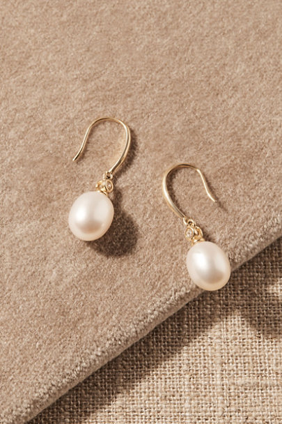 View larger image of Wenda White Topaz & 14k Gold Earrings
