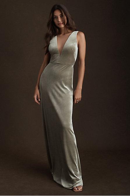 Jenny Yoo Logan Velvet Dress