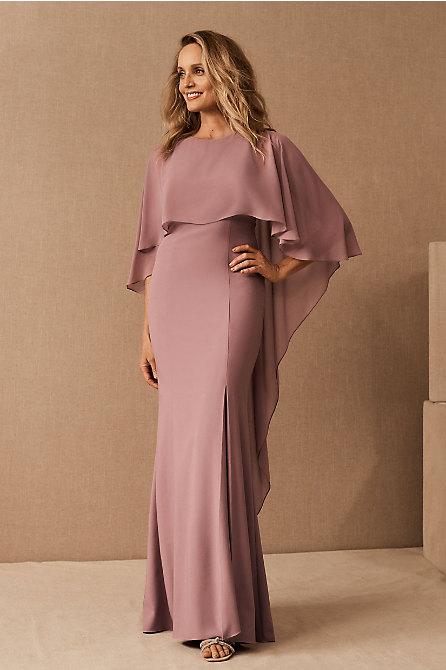 Amsale Crane Cape Dress