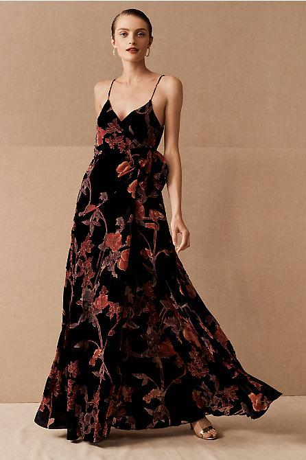 Hutch Porto Floral Velvet Dress