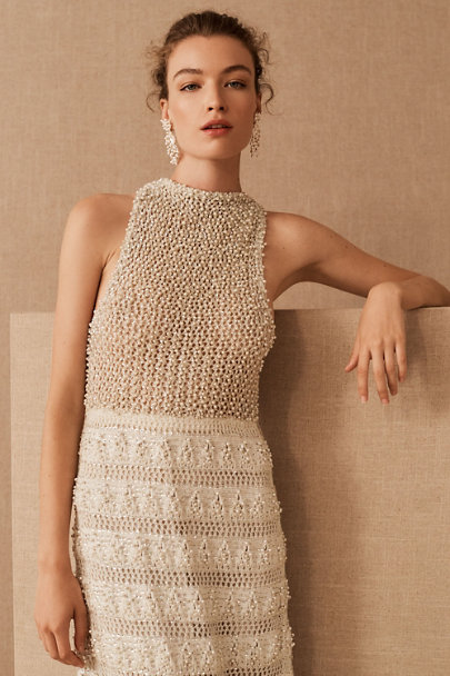 View larger image of Vintage 1960s Jole Veneziani Crochet Pearl Gown