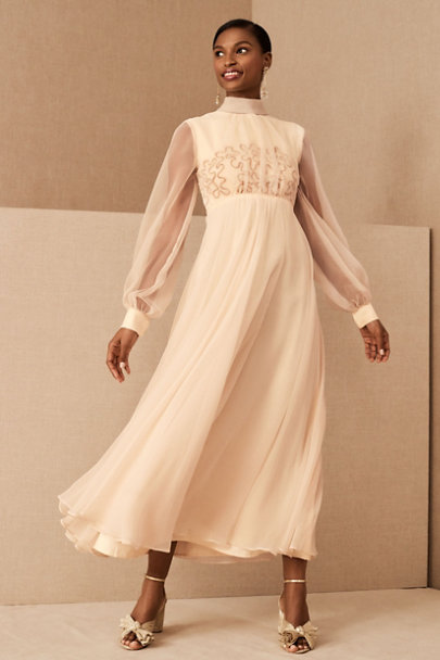 View larger image of Vintage 1960s Peach Chiffon Gown