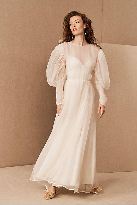 Vintage 1960s Milanese Sheer Silk Gown