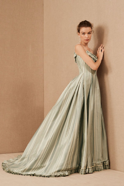View larger image of Vintage 1990s Oscar de la Renta Striped Ballgown