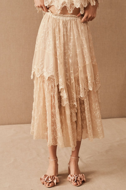 View larger image of Vintage 1970s Bohemian Lace Top & Skirt Set