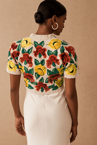 View larger image of Vintage 1960s Sequin Floral Bolero