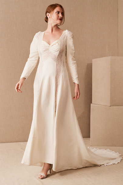 View larger image of Vintage 1940s Lace Puff Sleeve Gown