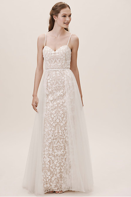 Jenny by Jenny Yoo Marseille Gown & Breakers Overskirt