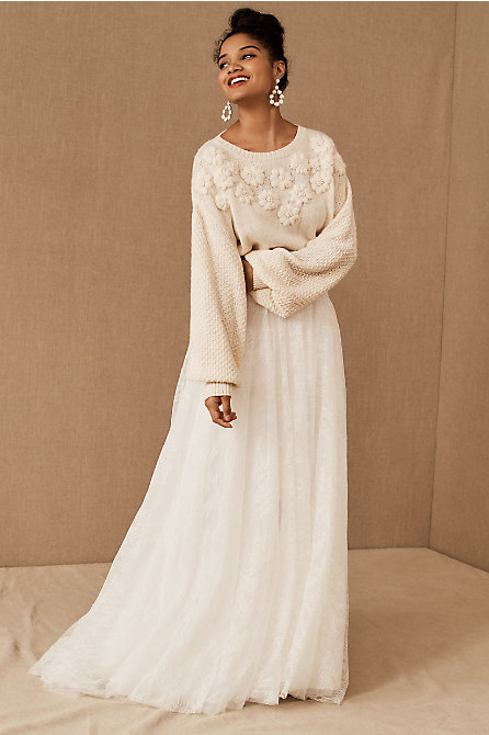 BHLDN Sonya Sweater & Watters Dorota Skirt