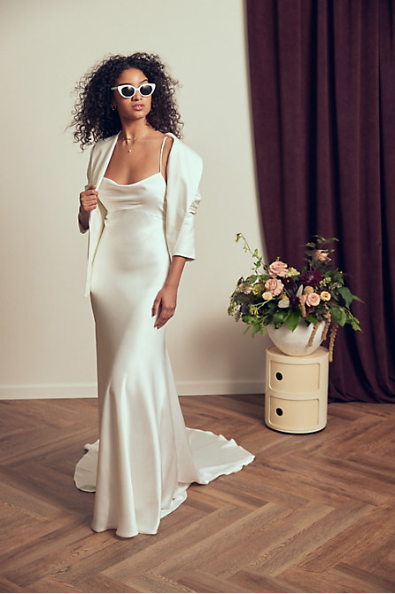 The Tailory New York x BHLDN Westlake Suit Jacket & Jenny by Jenny Yoo Sutton Gown