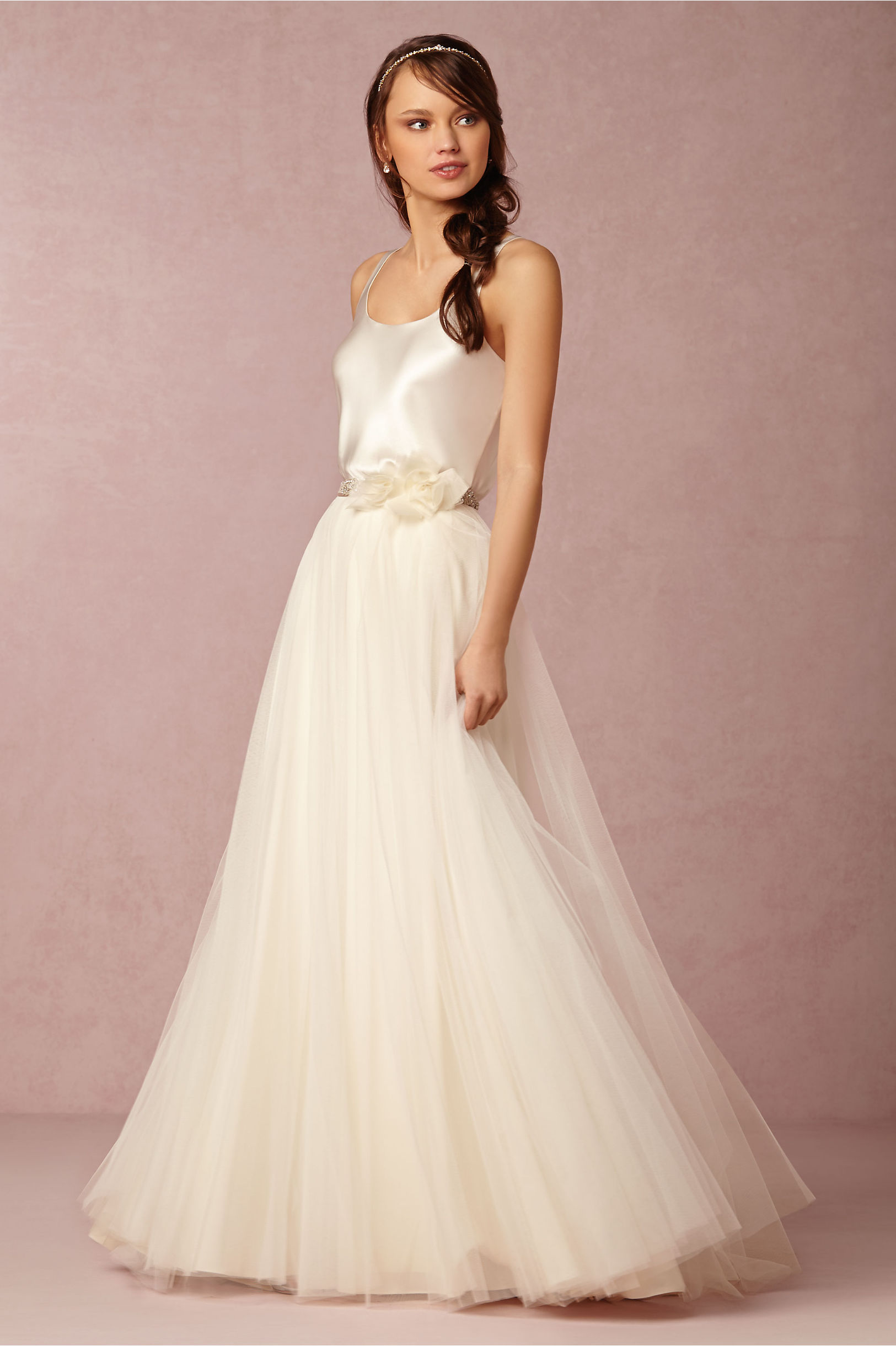 Gracia Skirt & Perpetuity Camisole in Bride | BHLDN
