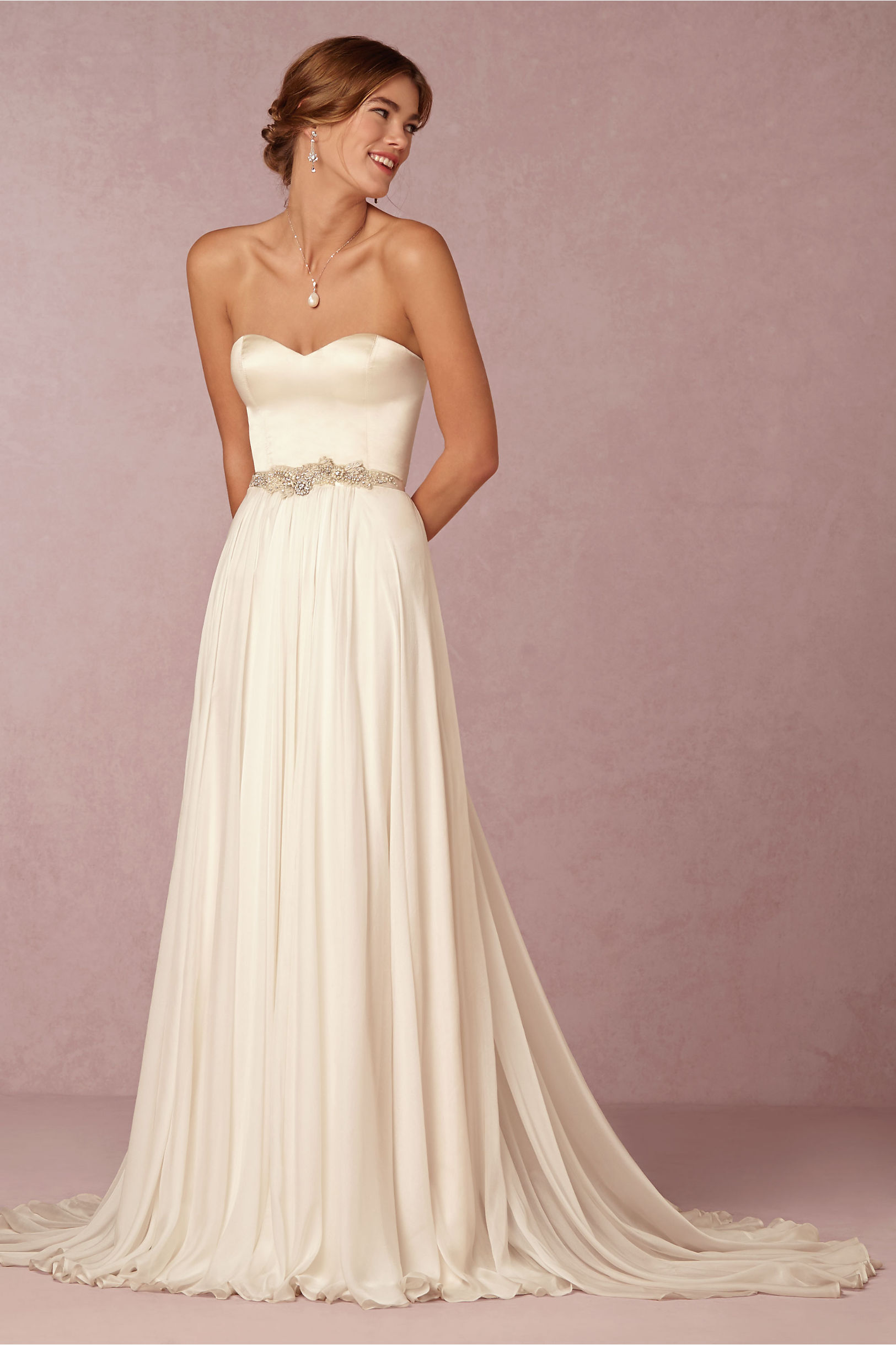 Darla Camisole Top & Delia Maxi Skirt in Bride | BHLDN
