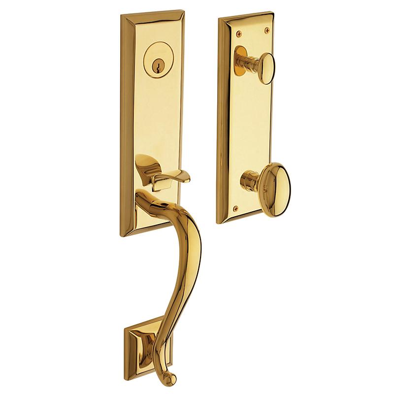 Front Door Hardware Brass stonegate handleset (85355.003)