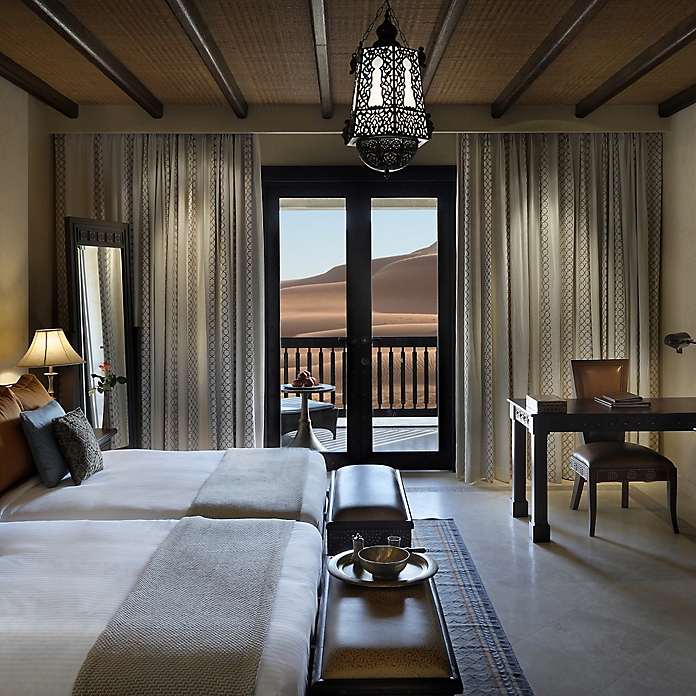 Baldwin customized the bronze Archetypes Villa Collection to accommodate European mortise doors throughout the Qasr Al Sarab Desert Resort.
