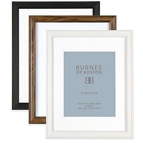 Burnes of Boston 8-Inch x 10-Inch Matted Basic Picture Frame - Bed ...