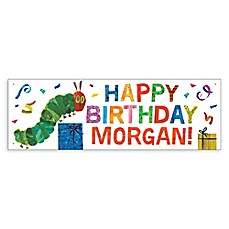 image of Very Hungry Caterpillar Birthday Banner