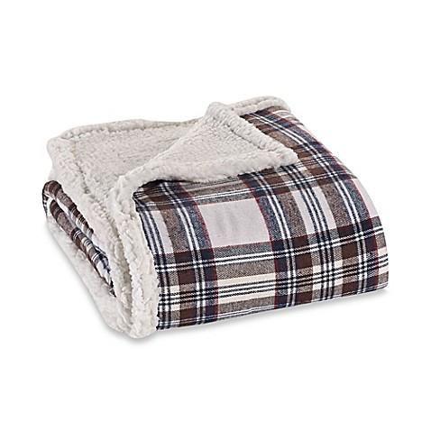 Eddie Bauer 174 Sherpa Flannel Throw Blanket Bed Bath Amp Beyond