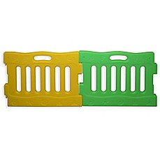image of Baby Diego PlaySpot Playard Extension Panels in Green/Yellow (Set of 2)
